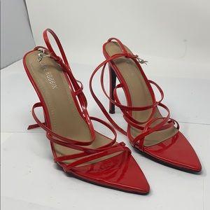 Cape Robbin Red Strap Heel Pointed Toe Heels Sz 8